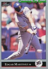 197   EDGAR MARTINEZ    SEATTLE MARINERS  BASEBALL CARD LEAF 1992