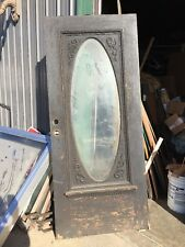 An 167 Antique 36 Inch Entrance Door Beveled Glass With Gingerbread