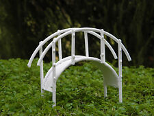 Miniature Dollhouse FAIRY GARDEN ~ Rustic White Metal Bridge ~ NEW