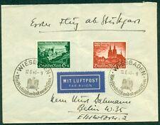 Germany 1940 Peace Treaty Cover W/Semi-Postals Tied By Weisbaden Waffen, Komm.