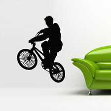 Wall Decal Sticker Vinyl Bedroom Great Bicycle Sport Bmx Jump Bike Cycle M834