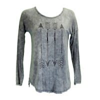 Cowgirl Hardware Women's Stone Washed Graphite Arrow Lone Sleeve Tee 215362-049