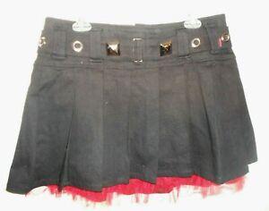 Tripp NYC Black Mini Skirt Size 12 Punk Goth  Hot Topic SUPER >-)))'>