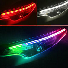 2× RGB LED DRL Car Styling Daytime Running Light Strip For Headlight Accessories