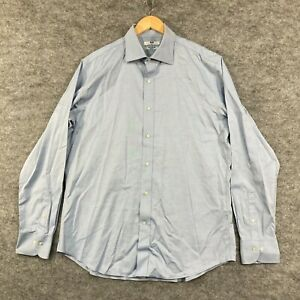 Uniqlo Mens Button Up Shirt Size XL Slim Fit Blue Long Sleeve Collared 199.21