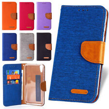 Phone Case for Motorola Flip Cover Protective Case Sleeve Pouch Canvas Fabric Wa...