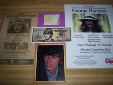 THE BEATLES / GEORGE HARRISON / 1974 CONCERT TICKET STUB/ PROGRAM & POSTER