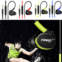In Ear Waterproof Earphones Earbuds HIFI Sport Headphones Bass Headset With Mic