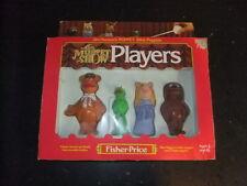vintage Muppets Stick Puppets Fisher Pirice 1978 in box Kermit Miss Piggy Fozie