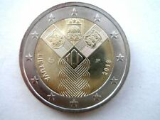LITHUANIAN 2018 2 EURO COIN, the 100th anniversary of the Baltic States