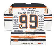 Wayne Gretzky White Career Jersey - Signed - LTD /99 - Edmonton Oilers - WGA/UDA
