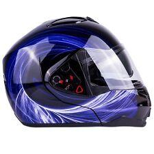 Modular Helmet Flip Up Motorcycle Adult Blue DOT