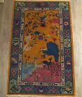 """Antique Art Deco Chinese Rug 6' 10"""" × 4' 2"""" or 82 inch by 50i nch WCWU EUC"""