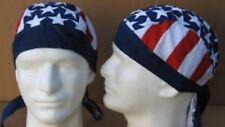 AMERICAN FLAG BIKER SkuLL CaP USA DU-RAG DEW DO doo rag EASYRIDER hat COTTON OS