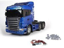 Tamiya Scania R620 6x4 Highline Blue inkl. LED und Kugellager #56327LEDKU