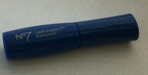 Boots No7 LASH IMPACT Waterproof BLACK Mascara 4.5ml Worth £9