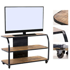 tv und hifi tische aus holz und metal ebay. Black Bedroom Furniture Sets. Home Design Ideas