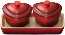Le creuset Japan miniature Ramukan d'Amour two set Red quartz 910384-00-06