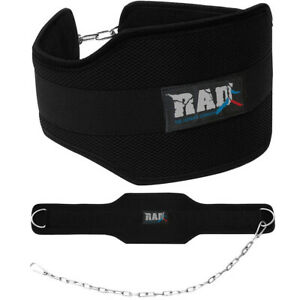 RAD Dipping Belt Weight Lifting Pull Ups Dip Wide Back Support 30in Chain Belt