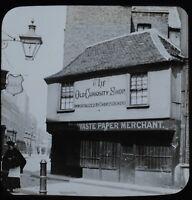 Magic Lantern Slide Photo London Dickens The Old Curiosity Shop Paper Merchant
