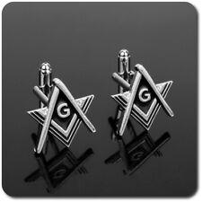 Manschettenknöpfe Manchette Freimaurer Metall Emaille Winkel Zirkel Masonic Edel