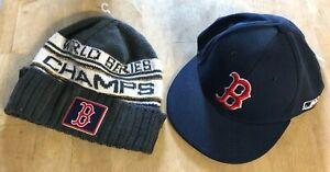 NWT OC Sports Boston Red Sox Cap & NWT New Era Stocking Cap - Size M/L