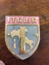 Stemma in plastica ITALIA da mascherina auto epoca