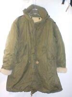 Vintage US Army M-1951 Fishtail Parka w/Sherpa Fleece Liner Sz Large