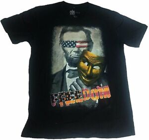 Freedom Abe Lincoln Purge We The People American Flag U.S.A Mens T-Shirt
