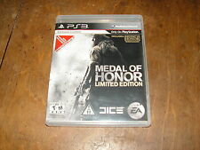 Medal of Honor -- Limited Edition (Sony PlayStation 3, PS3, 2010)