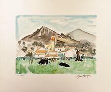 """Yves BRAYER - """"Village du  Sud"""" - Lithographie originale signée"""