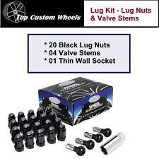 C1709BL-34 Wheel Install Lug Kit Black Lug Nuts M14x1.5 fit Chrysler 300 05-17