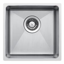 400 x 440mm Undermount/Inset Deep Single Bowl Stainless Steel Kitchen Sink LA017