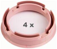 4 x Zentrierring 72.6 mm auf 57.1 mm rosa / pink