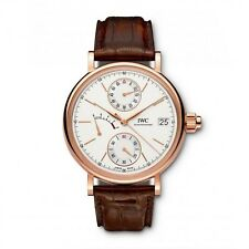 NEW IWC Portofino Hand-Wound Monopusher Silver Dial Pink Gold 45mm IW515104