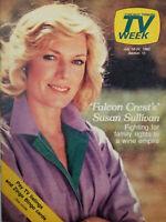 Chicago Tribune TV Week July 1982 Falcon Crest - Susan Sullivan - EX