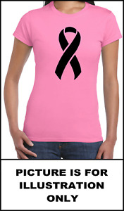 Ladies Cancer Ribbon Pink T Shirt  Cancer Research UK [ Charity Listing ]