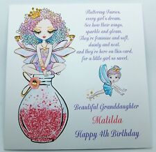 Personalised Fairy Birthday Card Granddaughter Daughter Niece Sister  Any Age