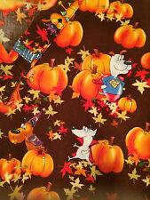 Peaches Scrub Fall Autumn Leaves Pumpkin Super Dog Top XS Cotton Women Medical