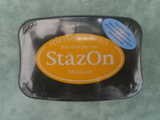 Mustard StazOn Permanent Ink Pad