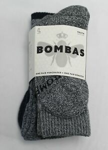 Bombas Youth Solid Calf Sock 4-Pack SG8 Mixed Youth Size 9-3 NWT