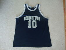 Vintage NCAA Georgetown Hoyas Basketball Rap Hip Hop Logo Athletic Jersey L