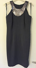 New Formal Grey/Silver Sequin neck sleeveless Dress SZ UK M CAN 6