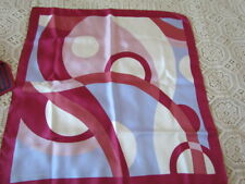 Mercedes Benz  Silk Twill Scarf Vintage Lot Geometric Abstract Albert Nipon New