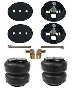 "Air Lift D2600 Air Bags With Bracket Mounts & 1/2"" Elbows For 1963-72 Chevy C10"