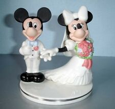 Lenox Disney Mickey & Minnie Cake Topper Figurine White Porcelain w/Platinum New