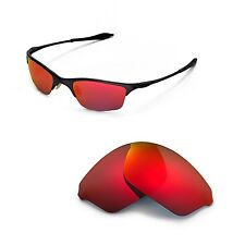 New WL Polarized Fire Red Replacement Lenses For Oakley Half Wire XL Sunglasses