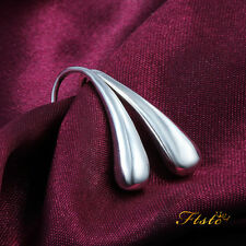 Wholesale New Solid Silver Lady/Womens's 925Silver Earrings Dangle/Stud+gift bag