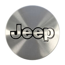 """New Mopar Jeep Center Cap 2"""" Aluminum with Black 5CF97L3X"""