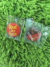 Supreme Red Riding Hood Rent My Face Pin set of 2